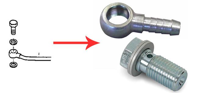 Passage pompe externe Adaptateur