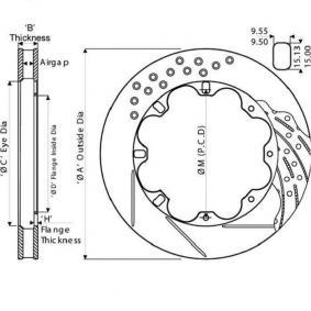 Disques de frein avant pour Peugeot 206 1.6 12//2000-09//2002 4552