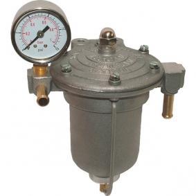 Filtre régulateur de pression d'essence Compétition KING Bocal 85 mm alu vis 8 mm avec manomètre 0 à 1