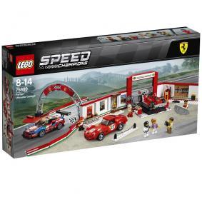 Jeu de construction LEGO Speed champions le stand Ferrari