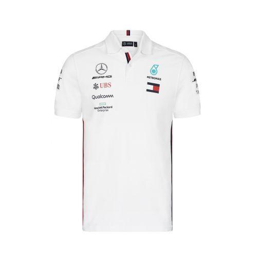 Amg Homme Polo Blanc Pour Mercedes Team tsrdQhC