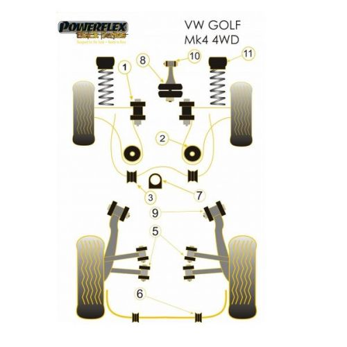Powerflex Black Front Engine Mount Dog Bone PFF85-420BLK For Audi S3 Mk1 4wd