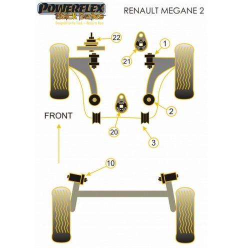 Black Silent Ii1 DciInsert Powerflex Blocs Pour Renault Support N°20 Inférieur 5 Moteur Series Mégane HID9WE2