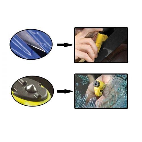 PORTE CLES SECURITE coupe ceinture brise vitre ROUGE