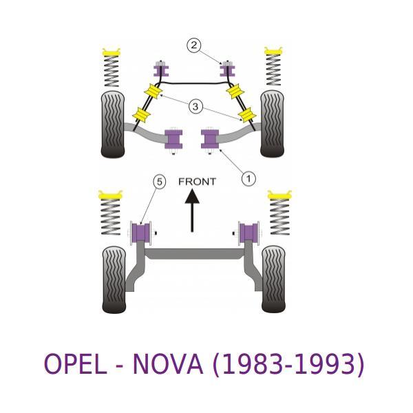 front Powerflex Bush Poly For Vauxhall//Opel Nova Corsa A Front Wishbone Inner
